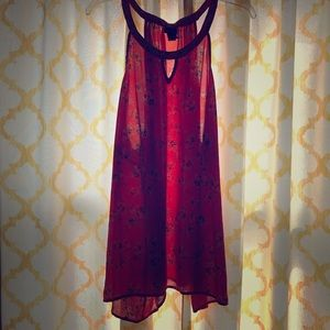 Coral sleeveless top